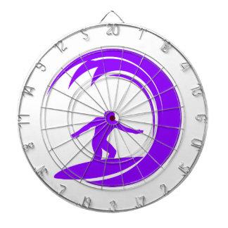 Persona que practica surf púrpura violeta tablero de dardos