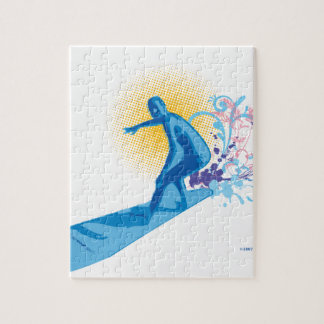 Persona que practica surf rompecabeza