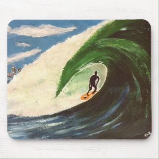 Persona que practica surf que practica surf la ola tapetes de raton
