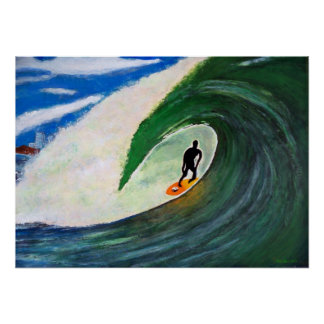 Persona que practica surf que practica surf la par posters
