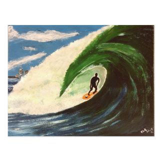 Persona que practica surf que practica surf la pos tarjeta postal