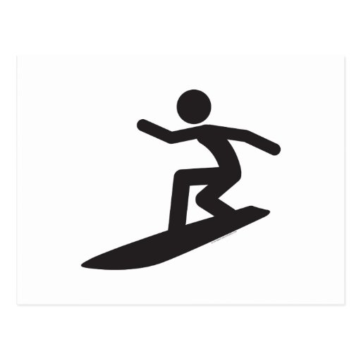 Persona que practica surf-T Postales