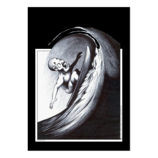 Persona que practica surf plantillas de tarjetas de visita