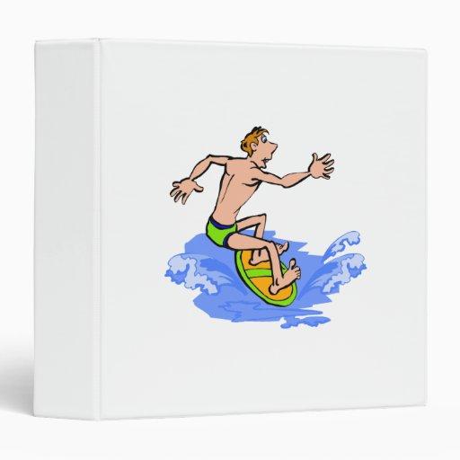 "Persona que practica surf tonta carpeta 1 1/2"""