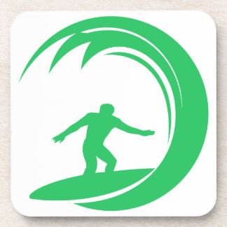 Persona que practica surf verde de Kelly Posavasos De Bebida