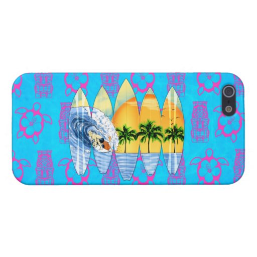 Persona que practica surf y tablas hawaianas iPhone 5 fundas