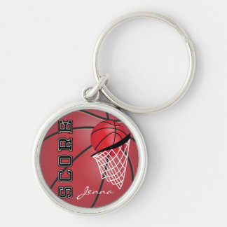 Personailize Red Basketball Keychain