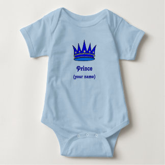 Personailzed Infant Prince crown) Baby Bodysuit