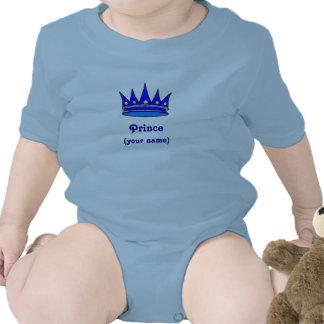 Personailzed Infant Prince crown) Bodysuit