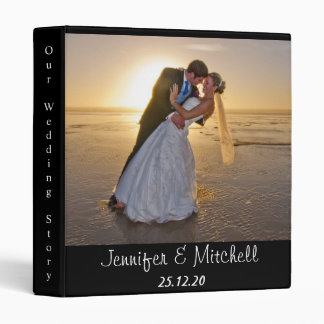 Personaized Elegant Images Names Wedding Binder