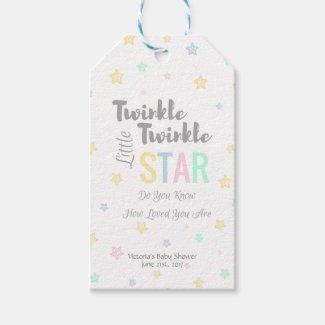 Personaized Twinkle Twinkle Little Star - Tags