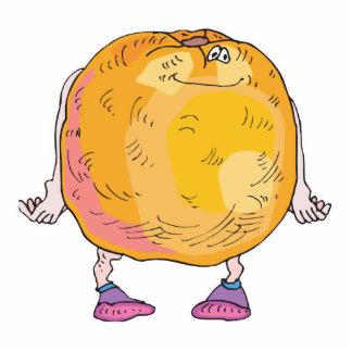 personaje de dibujos animados anaranjado tonto escultura fotografica