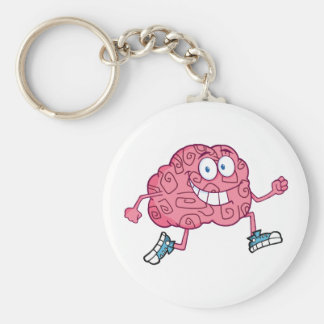 Personaje de dibujos animados corriente del cerebr llavero redondo tipo pin
