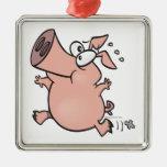 personaje de dibujos animados corriente lindo del  ornamento para arbol de navidad