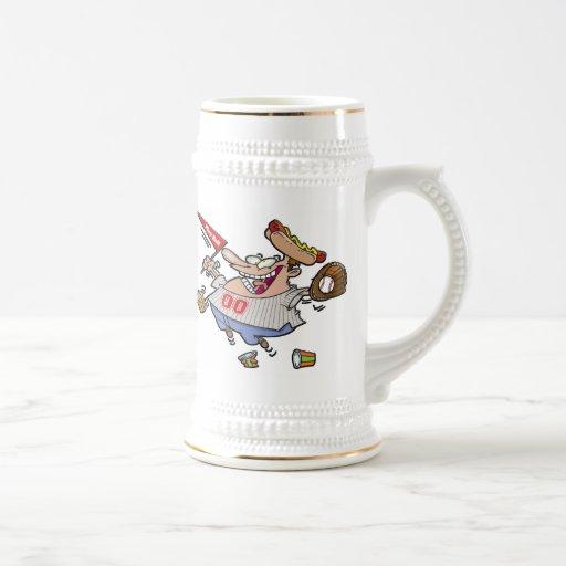 Personaje de dibujos animados de la bola del juego taza de café