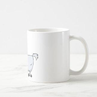 Personaje de dibujos animados de la cabra taza básica blanca