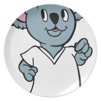 Personaje de dibujos animados de la camisa de la plato de comida