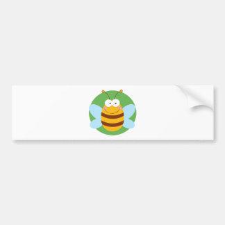 Personaje de dibujos animados de la mascota de la  pegatina de parachoque