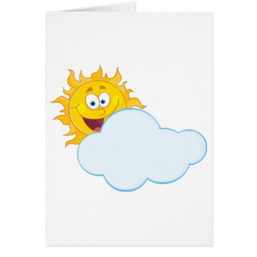 Personaje de dibujos animados de la mascota de Sun Tarjeta De Felicitación
