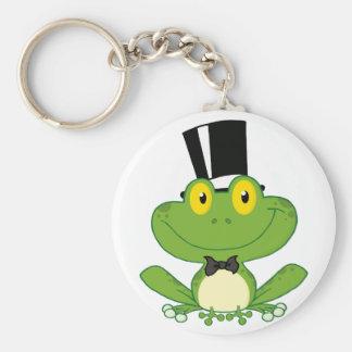 Personaje de dibujos animados de la rana del novio llavero redondo tipo pin