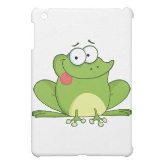 Personaje de dibujos animados de la rana que cuelg