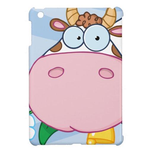 Personaje de dibujos animados de la vaca iPad mini protector
