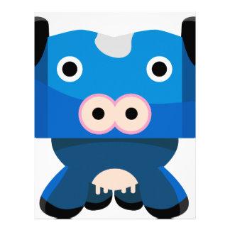Personaje de dibujos animados de la vaca membrete personalizado