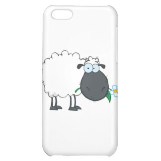 Personaje de dibujos animados de las ovejas blanca
