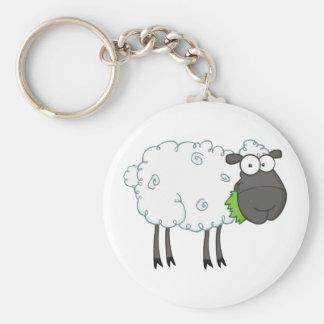 Personaje de dibujos animados de las ovejas negras llavero personalizado