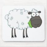Personaje de dibujos animados de las ovejas negras tapetes de raton