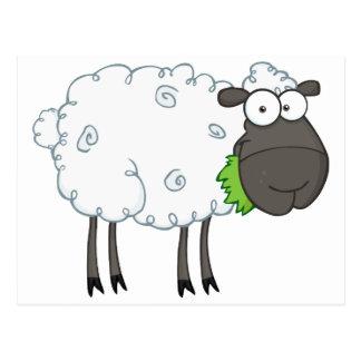 Personaje de dibujos animados de las ovejas negras postal