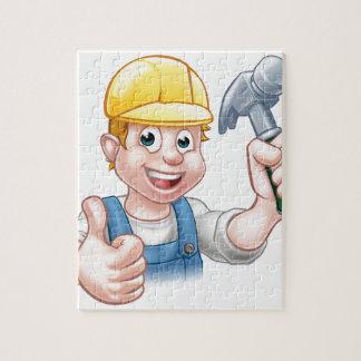 Personaje de dibujos animados del carpintero de la puzzle