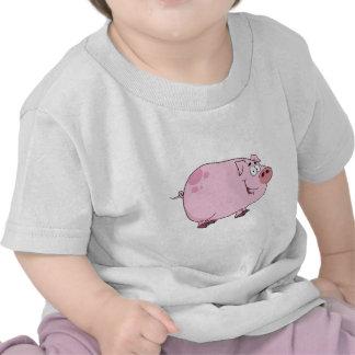 Personaje de dibujos animados del cerdo camiseta