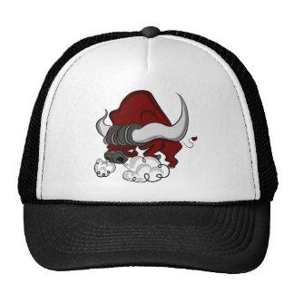 Personaje de dibujos animados del dibujo de Bull Gorras De Camionero