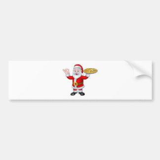 Personaje de dibujos animados del navidad de la pegatina para auto