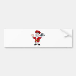 Personaje de dibujos animados del navidad del pegatina para auto