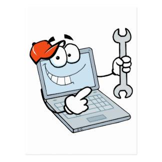 Personaje de dibujos animados del ordenador postal