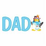 Personaje de dibujos animados del pingüino del gir escultura fotográfica
