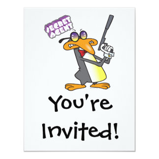 """personaje de dibujos animados del pingüino del invitación 4.25"""" x 5.5"""""""