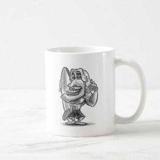 personaje de dibujos animados del tipo de la perso tazas de café