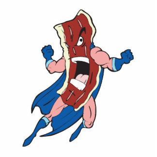 personaje de dibujos animados del tocino del super escultura fotográfica