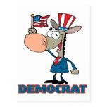 personaje de dibujos animados democrático lindo de