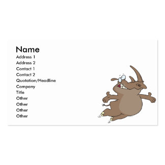 personaje de dibujos animados despreocupado feliz tarjetas de visita