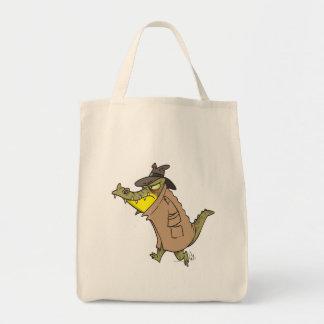 personaje de dibujos animados disimulado del cocod bolsa