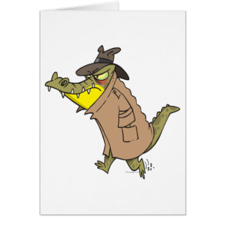 personaje de dibujos animados disimulado del tarjeta de felicitación