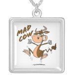 personaje de dibujos animados divertido de la vaca collar personalizado