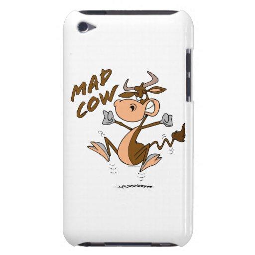 personaje de dibujos animados divertido de la vaca iPod Case-Mate fundas