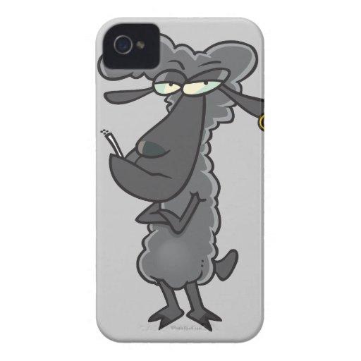 personaje de dibujos animados divertido de las ove iPhone 4 Case-Mate carcasas