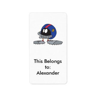 personaje de dibujos animados divertido del casco  etiquetas de dirección