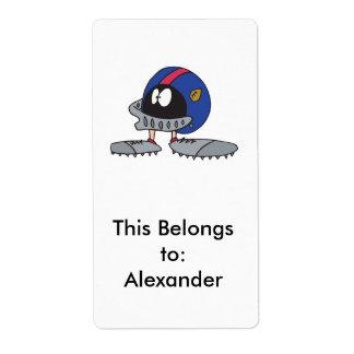 personaje de dibujos animados divertido del casco  etiquetas de envío